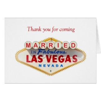 Obrigado vindo CASADO no cartão de Las Vegas