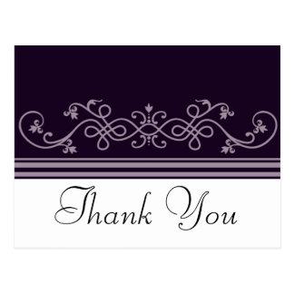 Obrigado violeta roxo você cartão