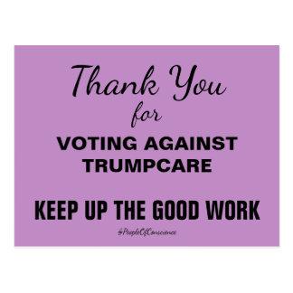 Obrigado votando contra TrumpCare resistem Cartão Postal