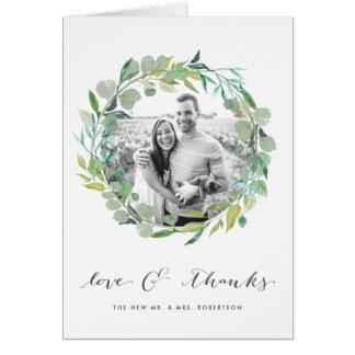 Obrigado Wedding da foto da grinalda | do Cartão