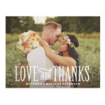 Obrigado Wedding do recem casados | você cartão Cartão Postal