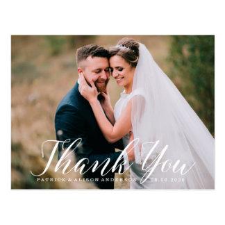 Obrigado Wedding doce do roteiro | você cartão