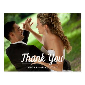 Obrigado | Wedding moderno elegante você cartão