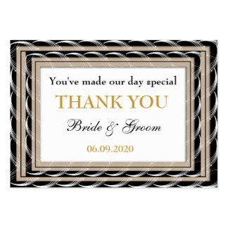 Obrigado Wedding personalizado dos favores você Ta Modelos Cartões De Visitas