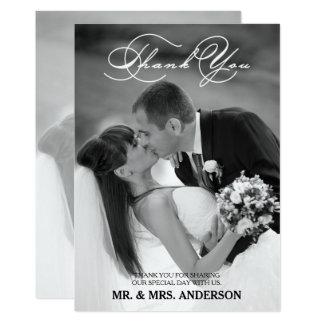 Obrigado Wedding romântico do roteiro | você Convite 12.7 X 17.78cm
