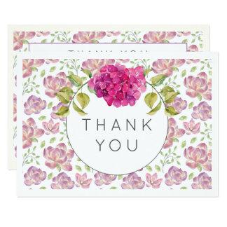 Obrigado Wedding você aguarela do Hydrangea do Convite 8.89 X 12.7cm