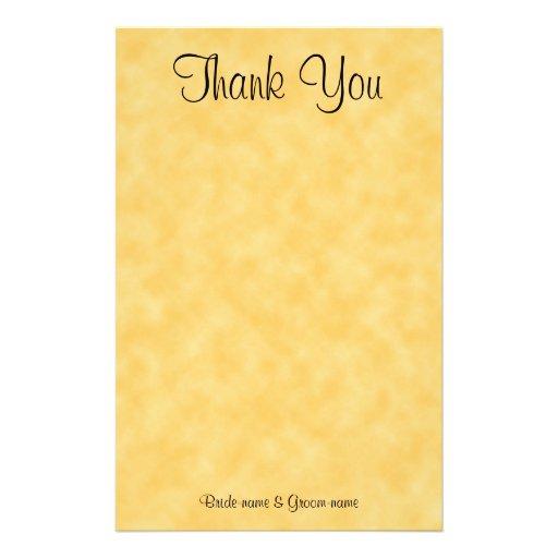 Obrigado Wedding você. Amarelo e preto Papéis Personalizados