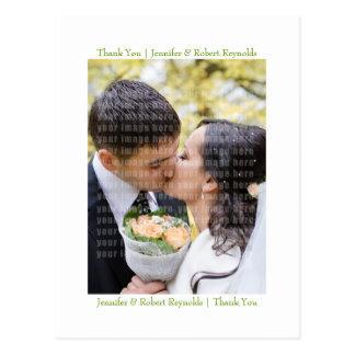 Obrigado Wedding você cartão