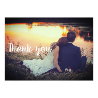 Obrigado Wedding você cartão - casal pela água