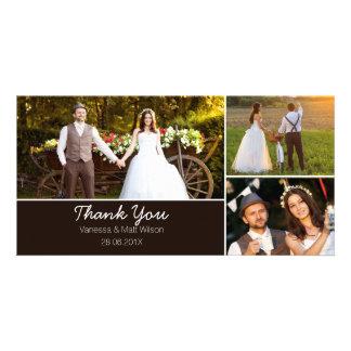 Obrigado Wedding você cartão com fotos Cartão Com Foto