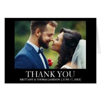Obrigado Wedding você cartão da dobra da foto