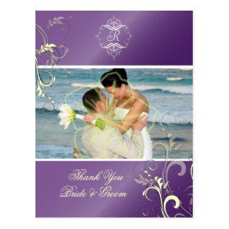 Obrigado Wedding você cartão da foto,