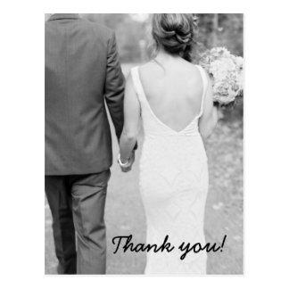 Obrigado Wedding você cartão da foto