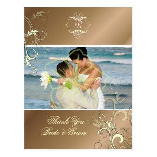 Obrigado Wedding você cartão da foto, Cartão Postal