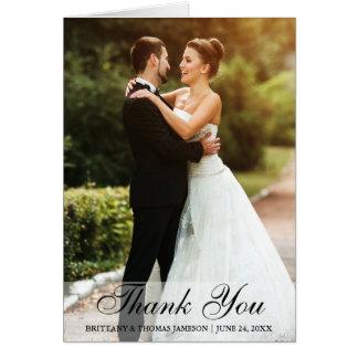 Obrigado Wedding você cartão de nota da foto da