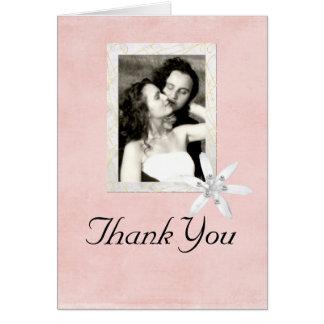 Obrigado Wedding você cartão do quadro da foto