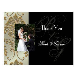 Obrigado Wedding você cartão introduz sua foto