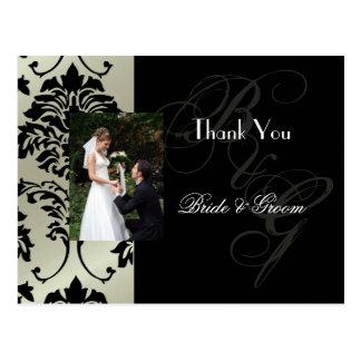 Obrigado Wedding você cartão introduz sua foto Cartão Postal