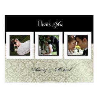 Obrigado Wedding você cartão introduz suas fotos