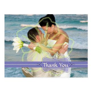 Obrigado Wedding você cartão introduz suas fotos Cartão Postal