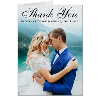 Obrigado Wedding você cartão moderno BT da dobra