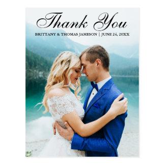 Obrigado Wedding você cartão moderno BT da foto
