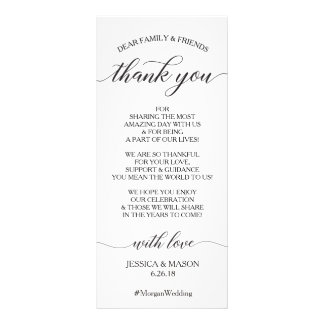 Obrigado Wedding você coloca o cartão - roteiro