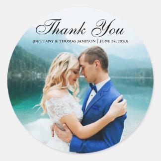 Obrigado Wedding você etiqueta moderna BT R da