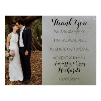 Obrigado Wedding você floral branco do cartão da Cartão Postal