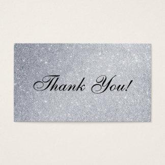 Obrigado Wedding você introduz o brilho de prata Cartão De Visitas