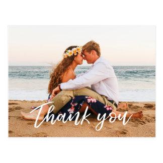 Obrigado Wedding você mão moderna do cartão