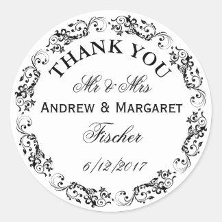 Obrigado Wedding você nota as etiquetas