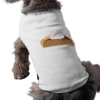 Obrigados! Camiseta de cão do tarte de abóbora