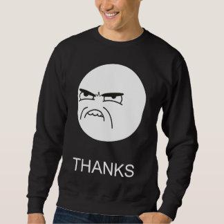 Obrigados Meme - 2 tomaram partido camisola preta Sueter