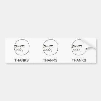 Obrigados Meme - autocolante no vidro traseiro Adesivos