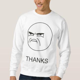 Obrigados Meme - camisola Moletom