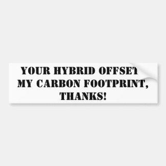 obrigados para conduzir um híbrido adesivo para carro