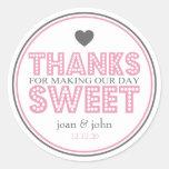 Obrigados para fazer nosso doce do dia (rosa/cinza