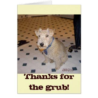 Obrigados para o Grub! Cartão
