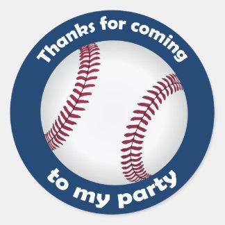 Obrigados para vir a minha etiqueta do basebol do