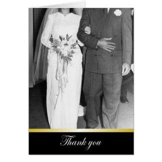 Obrigados que Wedding os obrigados - ENGRAÇADOS Cartão Comemorativo