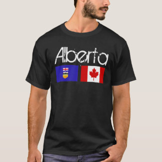 Obscuridade da camisa da bandeira de Alberta
