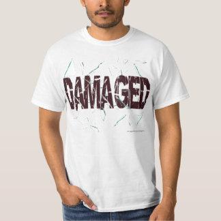 obscuridade danificada de t camiseta
