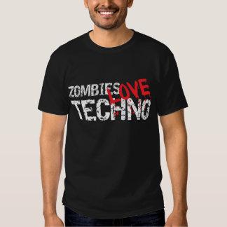 Obscuridade de Techno do amor dos zombis Camiseta