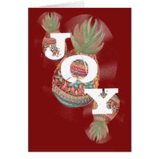 Obscuridade do cartão de Natal do abacaxi da