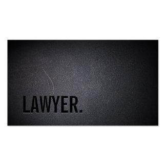 Obscuridade profissional de Minimalsim do advogado Cartão De Visita