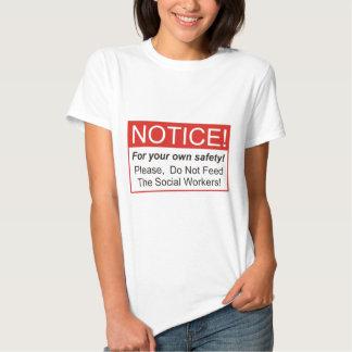 Observação/assistente social camisetas