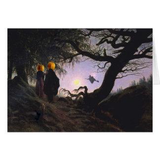 Observação da bruxa cartão comemorativo