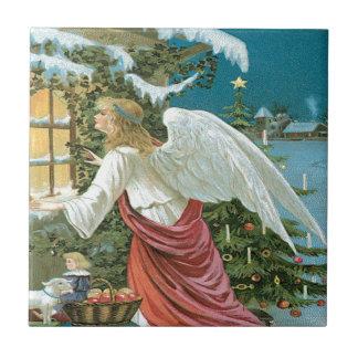 Observação do anjo azulejo quadrado pequeno