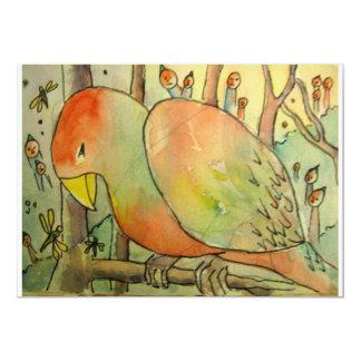 Observadores de pássaro convite 12.7 x 17.78cm